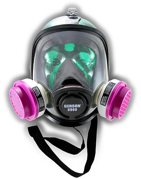 Full Face Tpe Respirator G71 Cartridges Kit Gerson